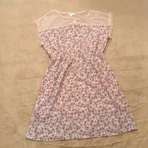 Size 10 NWT Lily Loves floral lace dress stretch waist